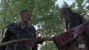 Bonds- Negan and Beta with walker skins- AMC, The Walking Dead