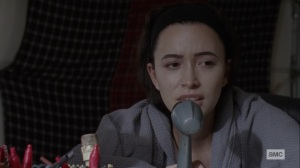 Bonds- Rosita calls Eugene- AMC, The Walking Dead