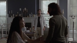 Bonds- Siddiq and Rosita arrive at the crowded infirmary- AMC, The Walking Dead