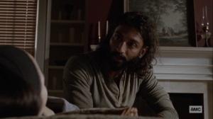 Bonds- Siddiq checks on Rosita- AMC, The Walking Dead