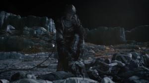 Little Fear of Lightning- Adrian Veidt in space, pulling bodies of his servants- HBO, Watchmen