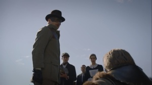 Little Fear of Lightning- Game Warden places Adrian Veidt under arrest- HBO, Watchmen