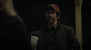 Little Fear of Lightning- Renee offers Wade a cigarette- HBO, Watchmen