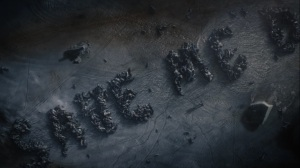 Little Fear of Lightning- Veidt spells out a message- SAVE ME D- HBO, Watchmen
