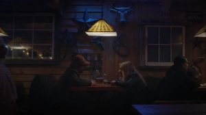 Little Fear of Lightning- Wade and Renee at a bar- HBO, Watchmen