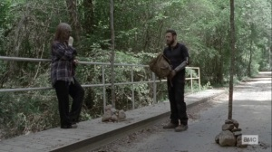 Open Your Eyes- Aaron and Gamma meet at one of the border- AMC, The Walking Dead
