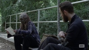 Open Your Eyes- Aaron tells Gamma about his brother- AMC, The Walking Dead
