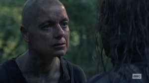 Open Your Eyes- Alpha asks Carol about the man with the metal arm- AMC, The Walking Dead
