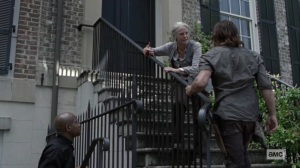 Open Your Eyes- Carol and Daryl argue over whether to get Lydia involved- AMC, The Walking Dead