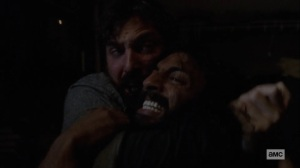 Open Your Eyes- Dante strangles Siddiq- AMC, The Walking Dead