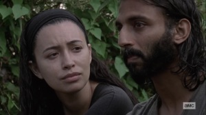 Open Your Eyes- Rosita tells Siddiq to open up- AMC, The Walking Dead