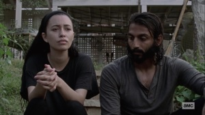 Open Your Eyes- Rosita wants to know what's really bothering Siddiq- AMC, The Walking Dead