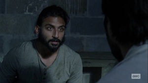 Open Your Eyes- Siddiq realizes that Dante gave hemlock to the prisoner- AMC, The Walking Dead