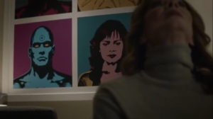 She Was Killed By Space Junk- Dr. Manhattan and Silk Spectre artwork- HBO, Watchmen