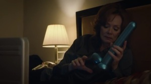She Was Killed By Space Junk- Laurie with Dr. Manhattan-styled dildo- HBO, Watchmen