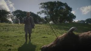 She Was Killed By Space Junk- Veidt approaching a dead bison- HBO, Watchmen