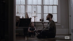 The World Before- Aaron tells Gracie a story- AMC, The Walking Dead