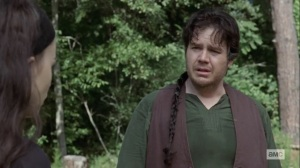 The World Before- Eugene offers his condolences to Rosita- AMC, The Walking Dead