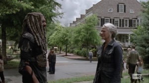 The World Before- Ezekiel catches up with Carol- AMC, The Walking Dead
