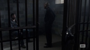 The World Before- Gabriel visits Dante in the cell- AMC, The Walking Dead