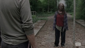 The World Before- Gamma asks Aaron if the baby is still alive- AMC, The Walking Dead