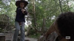The World Before- Judith trips the stranger- AMC, The Walking Dead