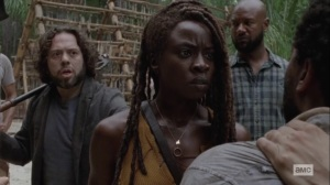 The World Before- Luke recognizes Virgil as the man who saved him- AMC, The Walking Dead