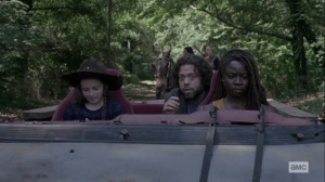 The World Before- Luke tells Judith about the road to the library- AMC, The Walking Dead