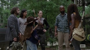 The World Before- Michonne bids farewell to the others- AMC, The Walking Dead