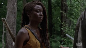 The World Before- Michonne learns Virgil's name- AMC, The Walking Dead