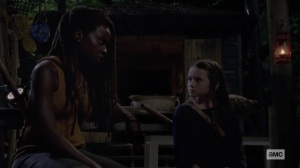 The World Before- Michonne tells Judith about where the stranger lives- AMC, The Walking Dead