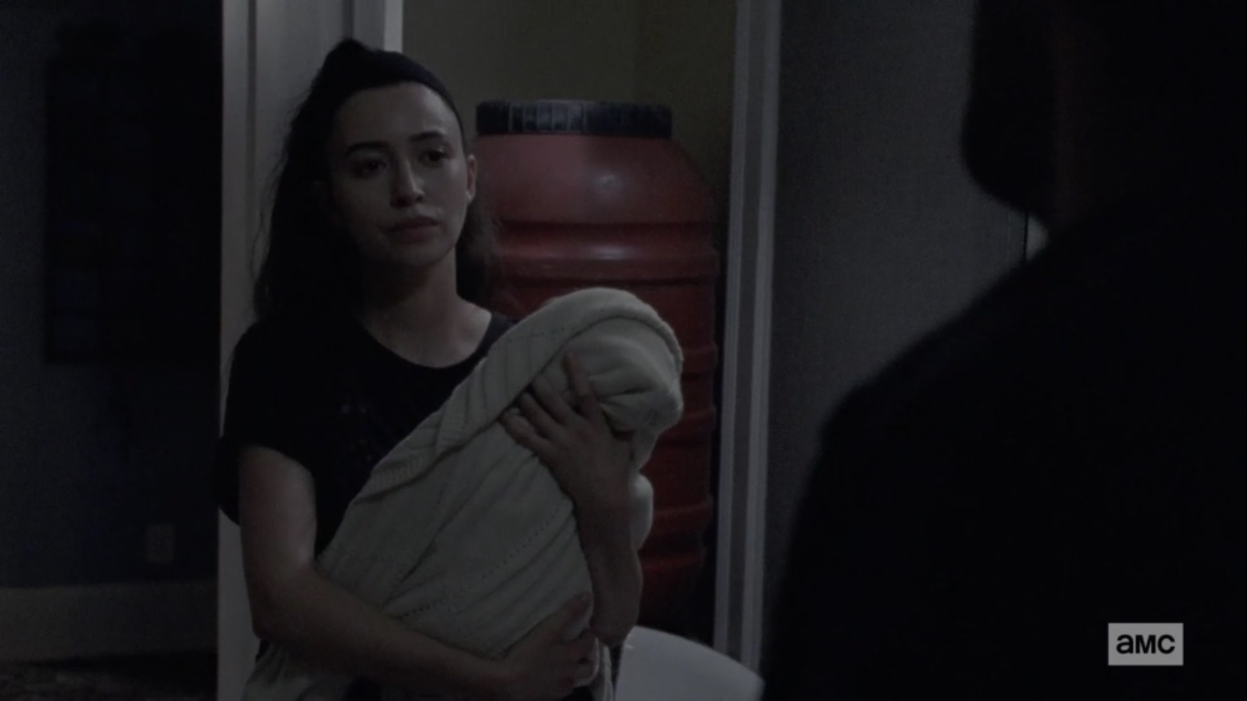 rosita walking dead baby
