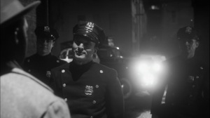 This Extraordinary Being- Officers confront Will in alley- HBO, Watchmen