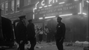 This Extraordinary Being- Will arrives at movie theater in aftermath of a riot- HBO, Watchmen