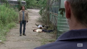 What It Always Is- Brandon kills the mother and son- AMC, The Walking Dead
