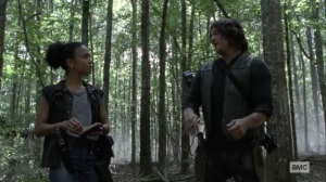 What It Always Is- Daryl tells Connie a story about going fishing with Merle- AMC, The Walking Dead