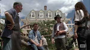 What It Always Is- Earl, Alden, Eugene, and Yumiko discuss reconstruction at Hilltop- AMC, The Walking Dead
