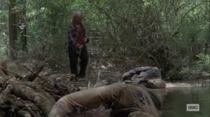 What It Always Is- Gamma guts a walker- AMC, The Walking Dead