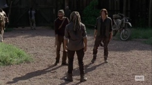 What It Always Is- Siddiq and Daryl inform Ezekiel about Negan's disappearance- AMC, The Walking Dead