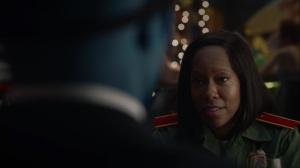 A God Walks Into a Bar- Angela wonders why Doctor Manhattan is wearing a Manhattan mask- HBO, Watchmen