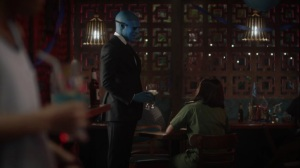 A God Walks Into a Bar- Doctor Manhattan asks Angela Abar to have dinner with him- HBO, Watchmen