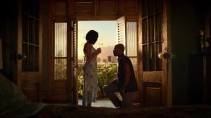 A God Walks Into a Bar- Jon gets on one knee- HBO, Watchmen
