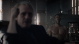 A God Walks Into a Bar- Jon visits Adrian Veidt- HBO, Watchmen