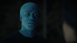 A God Walks Into a Bar- Manhattan is confused- HBO, Watchmen