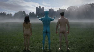 A God Walks Into a Bar- Manhattan makes a mansion for his creations- HBO, Watchmen