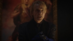 A God Walks Into a Bar- Veidt reveals the hydrogen symbol that will give Jon amnesia- HBO, Watchmen