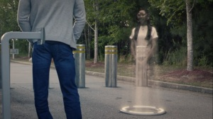An Almost Religious Awe- Hologram of Bian speaks to Cal about Angela- HBO, Watchmen