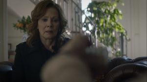 An Almost Religious Awe- Jane tries to get the trap door to work on Laurie- HBO, Watchmen