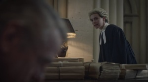 An Almost Religious Awe- Miss Crookshanks as the prosecution- HBO, Watchmen