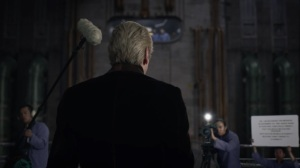 See How They Fly- Adrian Veidt records his message to President Robert Redford- HBO, Watchmen